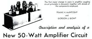 Ampli McIntosh MA 50 papier Original