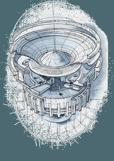 Haut parleur ATC dessin technique