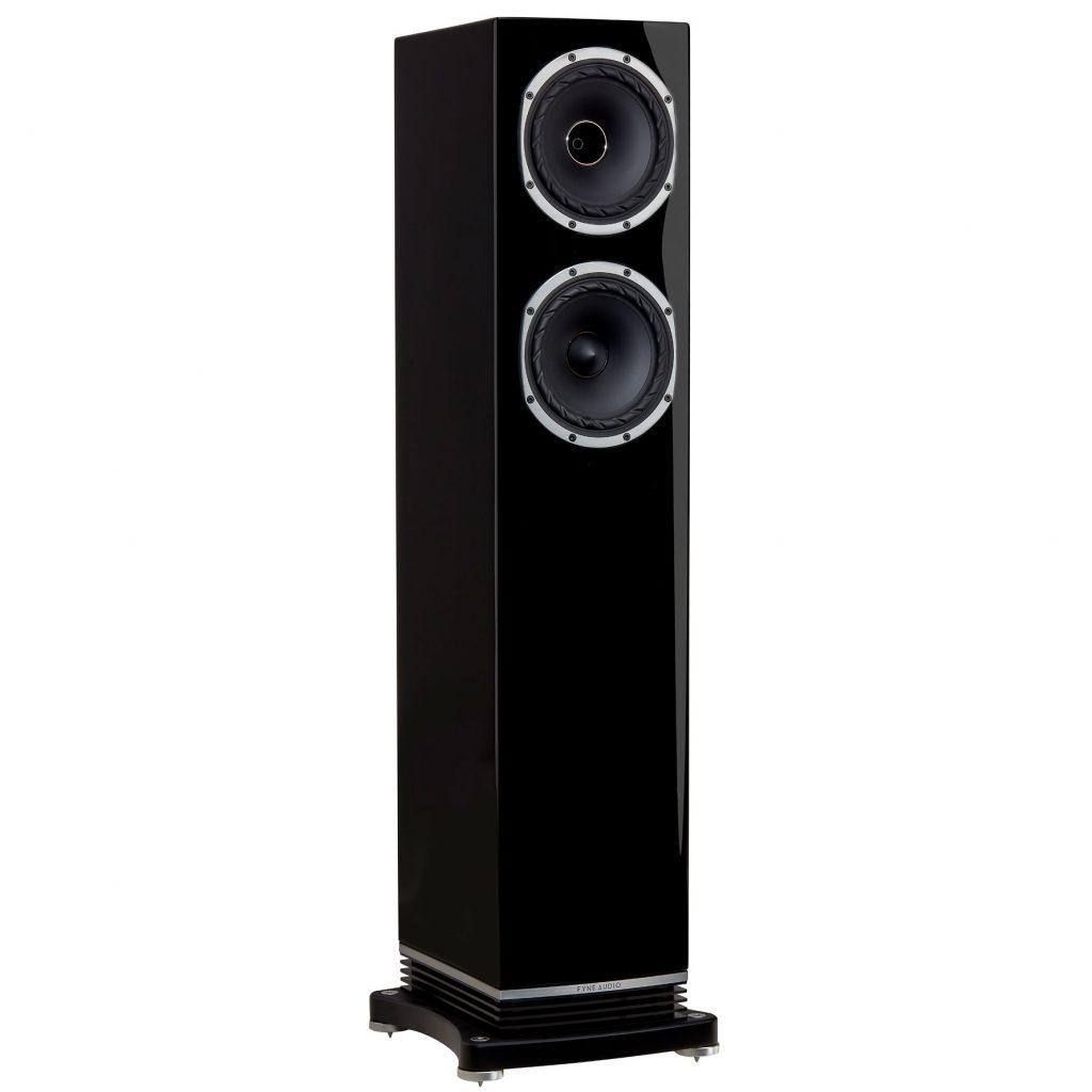 Fyne Audio F501 Enceinte colonne Haute fidélité en vente et démonstration dans notre Showroom à paris finition piano laqué