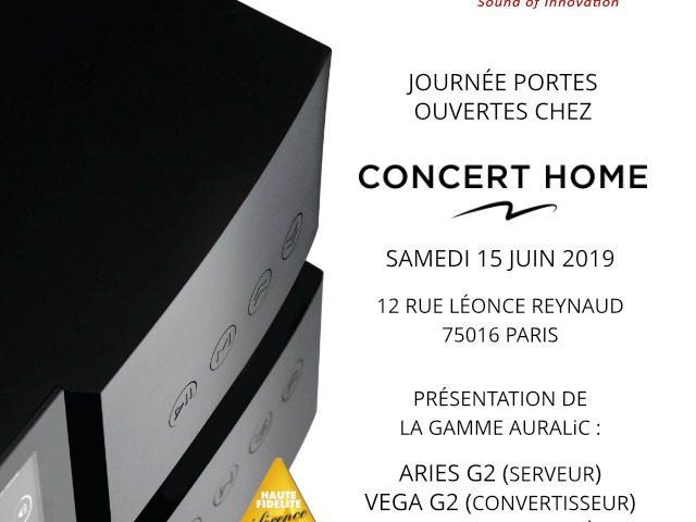 Journées porte ouvertes auralic à Paris showroom hifi concert Home