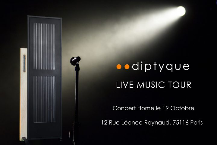dyptique audio DP 160 passif présentation journées portes ouvertes paris 16