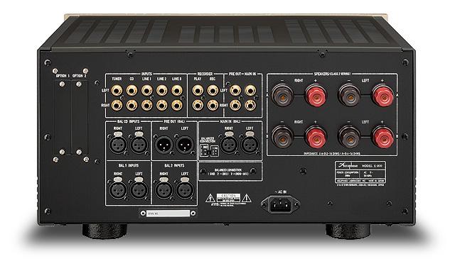 Accuphase E 800 amplificateur intégré pure classe A vue arrière