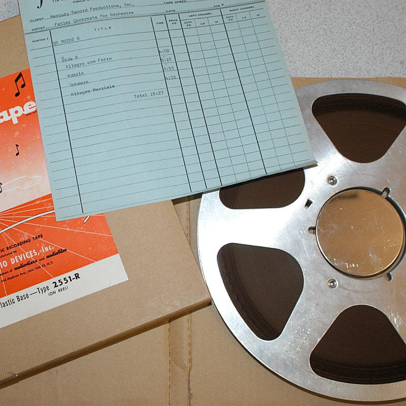 bande analogique master tape vinyle