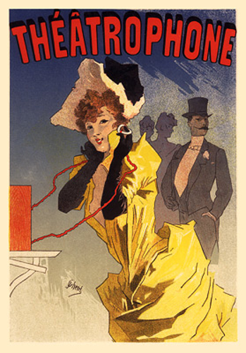 Theatrophone Affiche de Jules Cheret